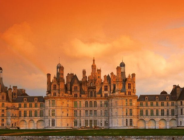 Chambord Castle in France Loire valley